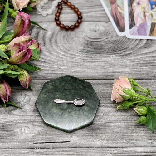 Денежный амулет в кошелёк - серебряная ложка загребушка