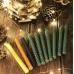 Набор из 10 тонких свечей  с травами