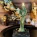 Зеленая восковая свеча Фортуна